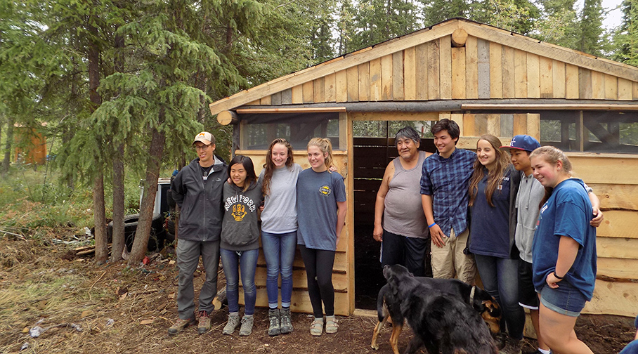 Learning to Build Wood-Frame Structures in Alaska