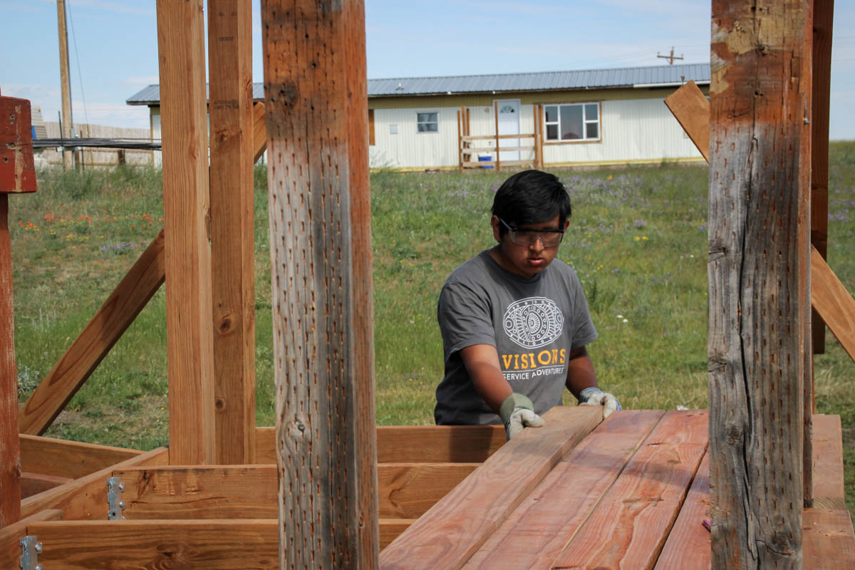 VISIONS Montana Blackfeet reservation community service projects